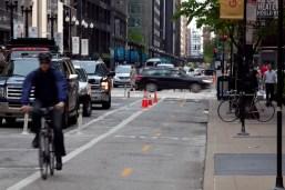Dearborn Street Protected Bike Lane 1