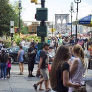 Pedestrian Activity at NYC's City Hall Park [Travis Estell]
