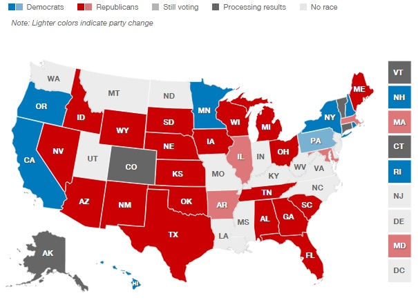 2014 Election Gubernatorial Results [CNN]
