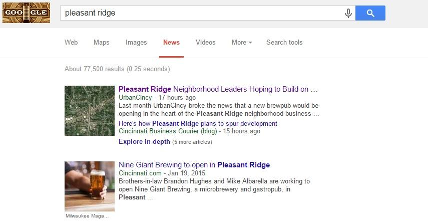 UrbanCincy Google News Result