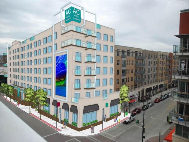 Rendering of the planned 165-room AC Hotel at The Banks [Provided]