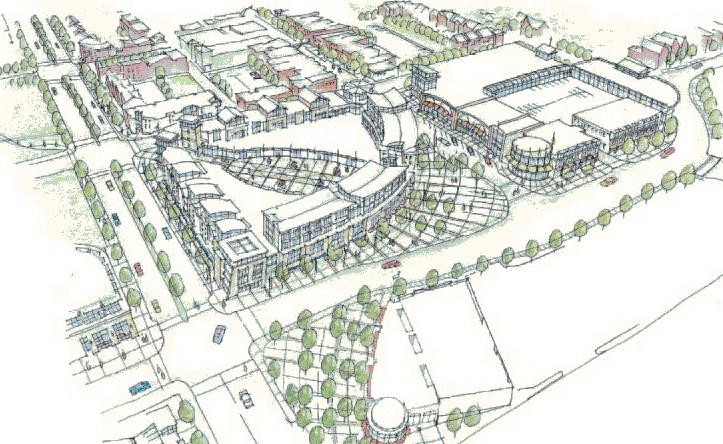 University Plaza Concept Design from 2005 [Niehoff Studio]