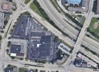 Auto-centric development near the urban core.
