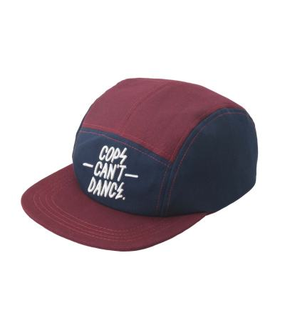 Cops can't dance cap maroon red/ blue