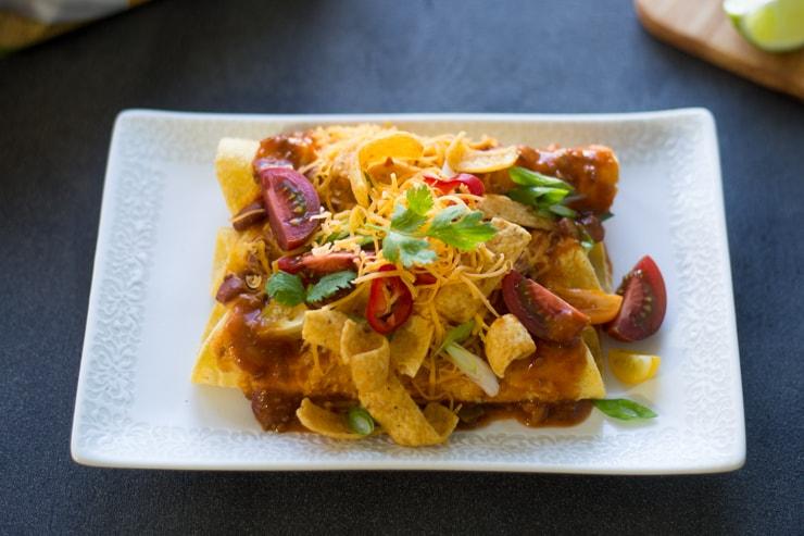 Frito Pie Enchiladas - A favorite, lazy day, Texas recipe