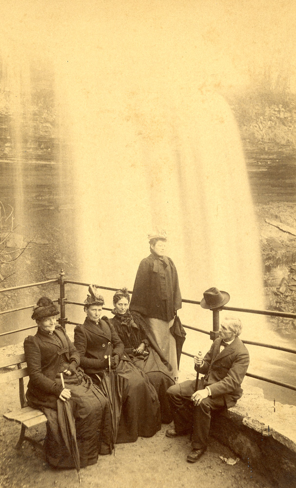 These solid citizens commemorated their pleasant dat at Minnehaha Park with a photograph.