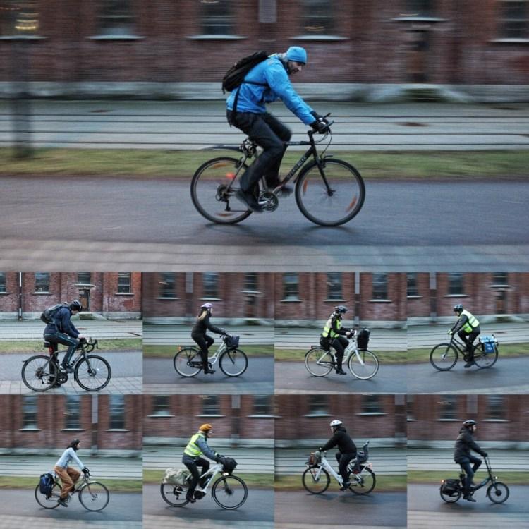 Cykling och hälsa kollage