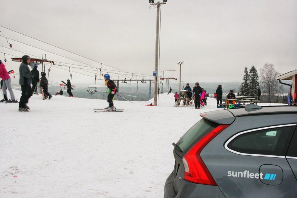 Sunfleet i skidbacken