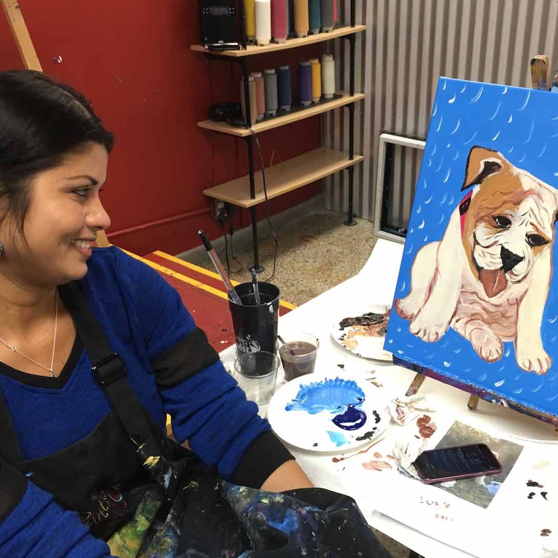 Painting With A Twist Benefit Paint Your Pet Urban Dog