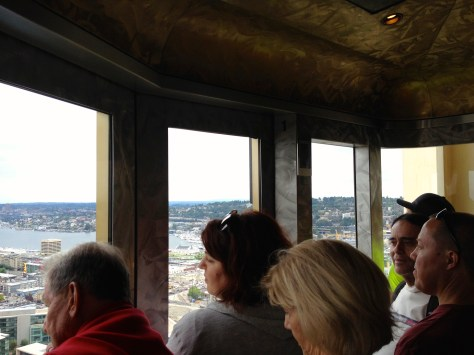 View from inside the Space Needle elevator