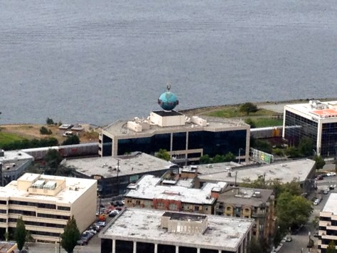 View from top of Space Needle (zoomed-in)