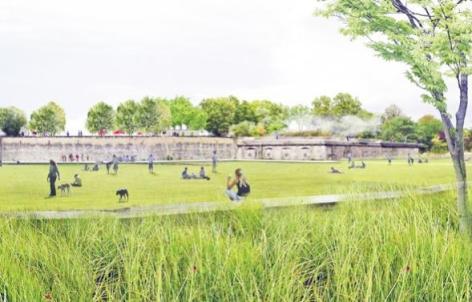 Parc Sergent blandan - Projet BASE paysagistes