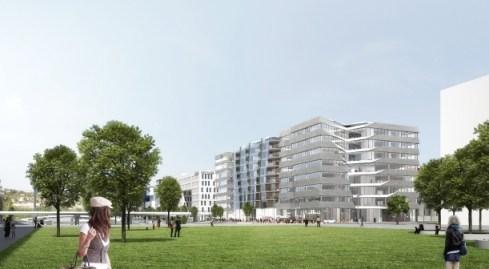 îlot P - Lyon Confluence - Kengo Kuma © Cyril Thomas pour Bouygues / Asylum pour SPLA Lyon Confluence