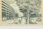 Ensemble d'habitation La Route Bleue, Roanne. Perspective d'ensemble, vers 1967