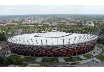 Le Stade national de Varsovie accueille cinq matchs de l'Euro 2012.