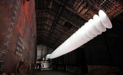 """Le pavillon chinois présente une installation appelée """"Sequence"""", le 26 août 2012, à la Biennale d'architecture de Venise."""