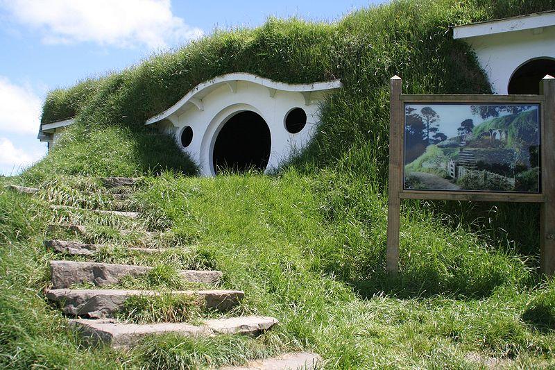 Décor de Hobbitebourg employé dans les films de Peter Jackson - Nouvelle Zélande