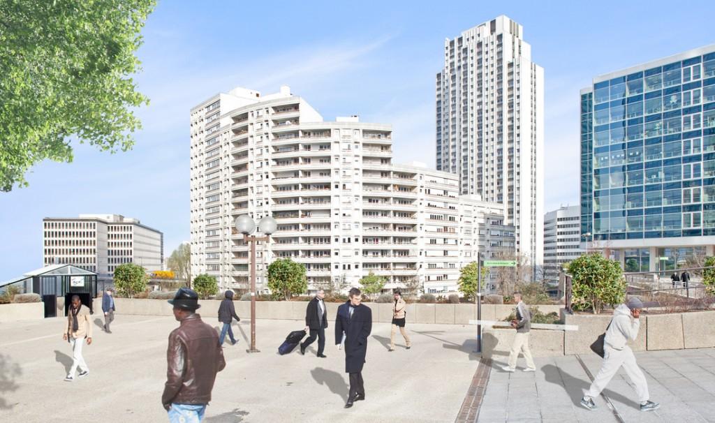 Place Carpeaux, Paris-La Défense, France, 2012