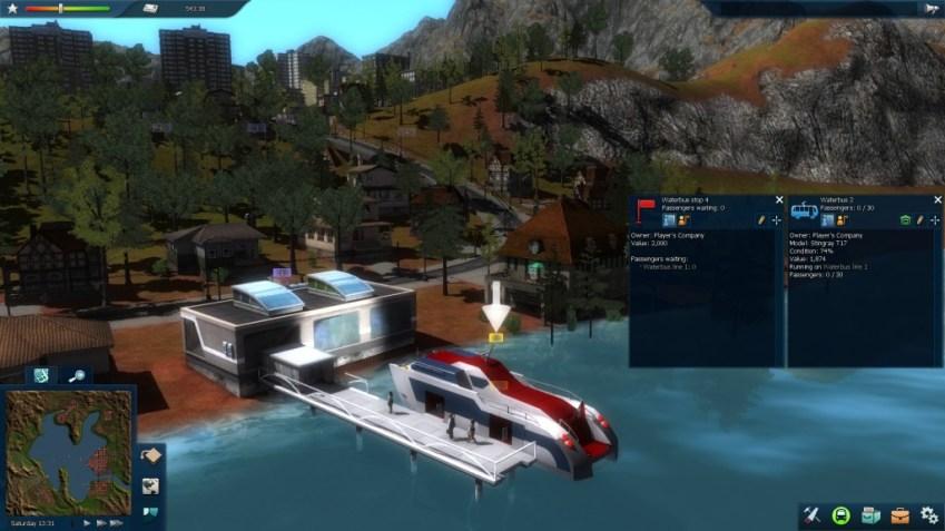 Une navette fluviale dans Cities in Motion 2