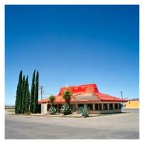 Pizza Hut (abandoned), Route 70. Alamogordo, New Mexico, USA.