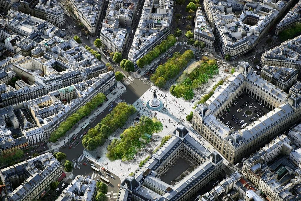 En Images La Nouvelle Place De La R Publique Paris