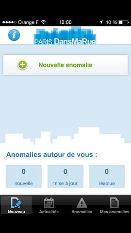 """""""DansMaRue"""" - Ville de Paris - Application iPhone"""