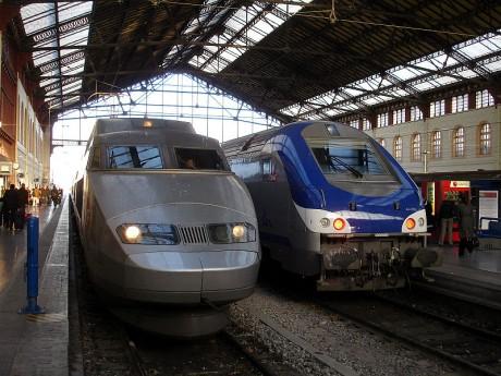 A Marseille, les TGV qui s'arrêtent cohabitent avec les TER. Crédit photo : Clicsouris