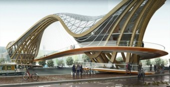 Mixed use Bridge - Amsterdam - Laurent Saint Val