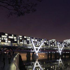 Pont Habité à Hambourg - BRT Architekten - Source : Metro France
