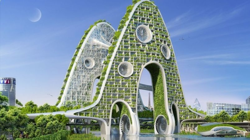 Bridge Towers - Paris Smart City 2050 - © Vincent Callebaut