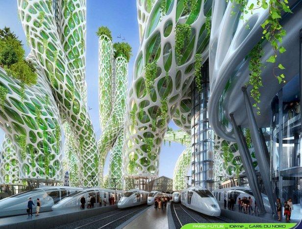 Mangrove Towers - Gare du Nord - Paris Smart City 2050 - © Vincent Callebaut
