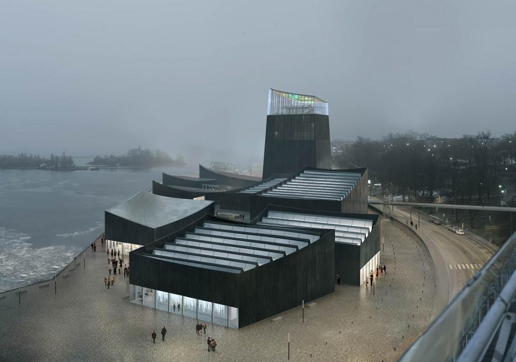 Rendu architectural du bâtiment / © MKA / Artefactorylab