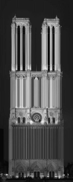 Une autre dimension du célèbre monument Notre Dame de Paris / © Luis Fernandes