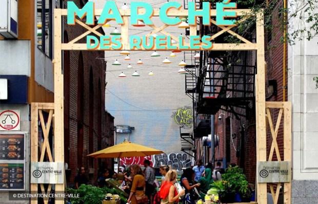 Après le succès du Marché des ruelles organisé par Destination centre-ville en septembre 2014, trois marchés éphémères seraient de retour pour se procurer des fruits et légumes de saisons. À suivre! / © Destination Centre-Ville