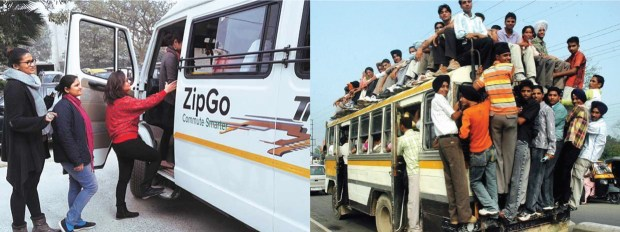 L'expérience ZipGo contraste fortement avec l'image habituelle que l'on se fait des transports en Inde / © Zipgo