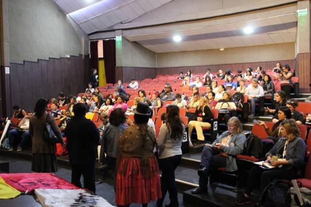 Réunion et signature d'une déclaration des Comités Populaires Face à Habitat III de différents pays latino-américains, « Resistencia HIII », 19.10.2016