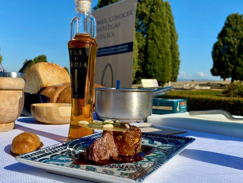 Grandes chefs y arqueólogos se acercan a la gastronomía romana en Itálica