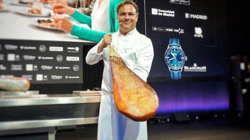 Ángel León presenta el arroz marino y el jamón de mar en Madrid Fusión