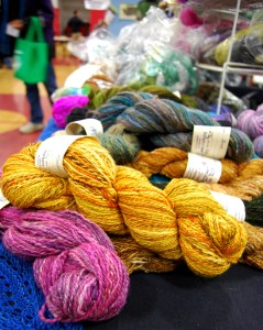 All sorts of wool and Alpaca fibers were for sale.