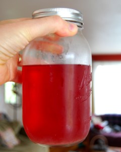 Here is the strained syrup.