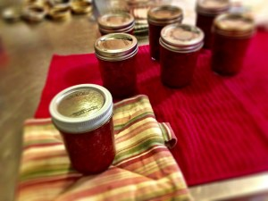 Once put in jars put in waterbath canner and boil for 10 minutes.  Check seals once jars have cooled.