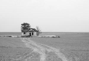 An isolated farm.
