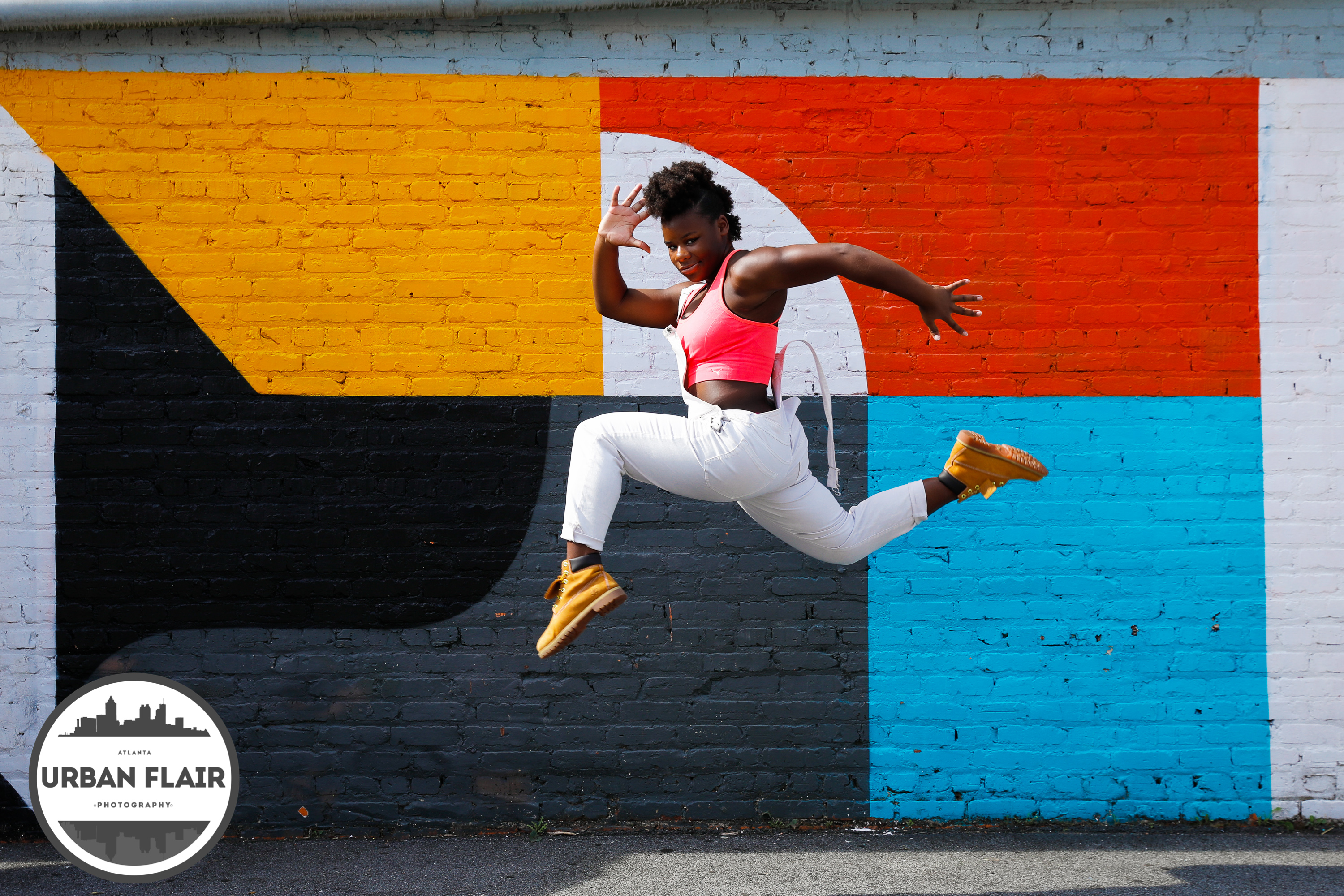 Urban Gymnastics on the streets of Atlanta. Teens and tweens gymnasts captured in the moment by Starr Petronella & Urban Flair Photography