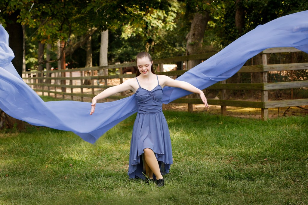 dancer, down syndrome, female, graceful, goat farm, urban flair photography