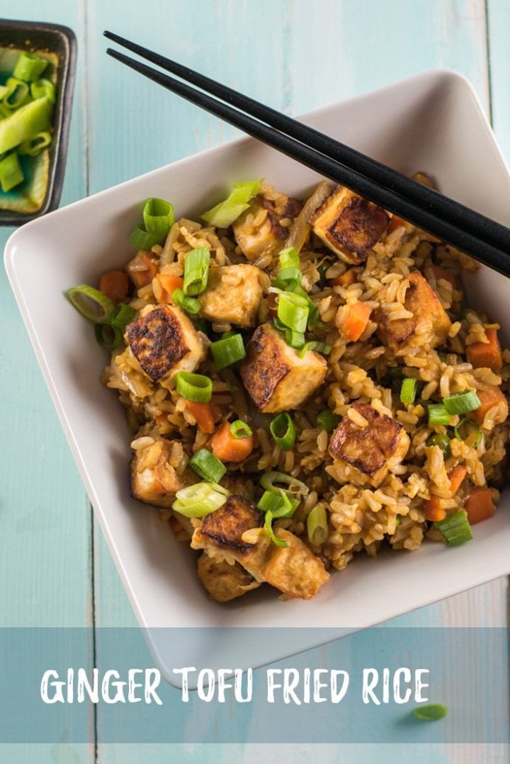 Better than ordering takeout, this Ginger Tofu Fried Rice give you a fairly quick and easy option for a great tasting and satisfying vegetarian meal.