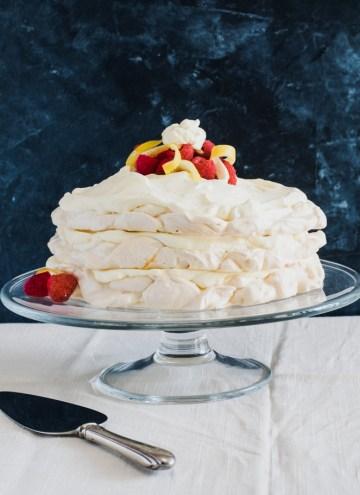Meringue Tort with Lemon Cream