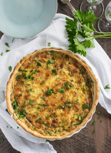 Quiche with Leeks & Pancetta