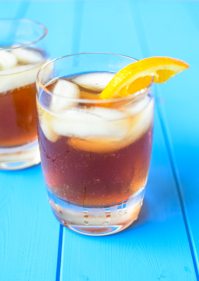 Ginger Orange Iced Tea - Q Ginger Beer
