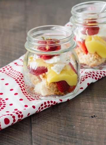 Mason Jar Strawberry Shortcake with Lemon Curd