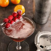 Cranberry Orange Rye Manhattan from Rhubarbarians